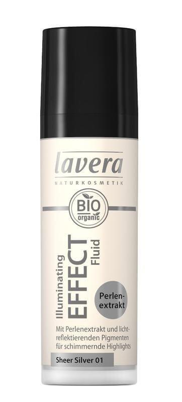 Tekutý krémový rozjasňovač Lavera strieborný 30 ml