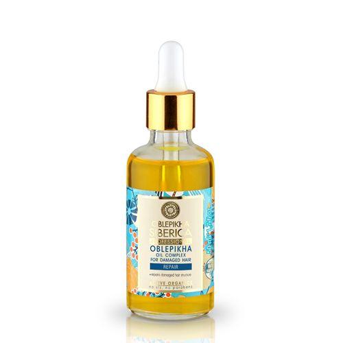 Prírodný rakytníkový olejový komplex pre poškodené vlasy 50 ml