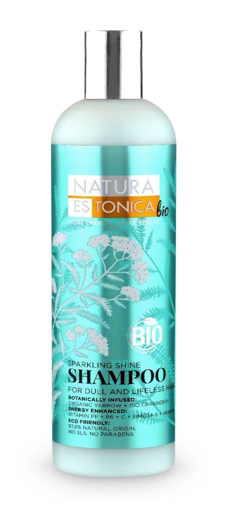 Šampón pre unavené vlasy Žiarivý lesk Natura Estonica 400 ml
