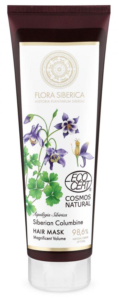 Maska na vlasy pre veľkolepý objem Flora Siberica