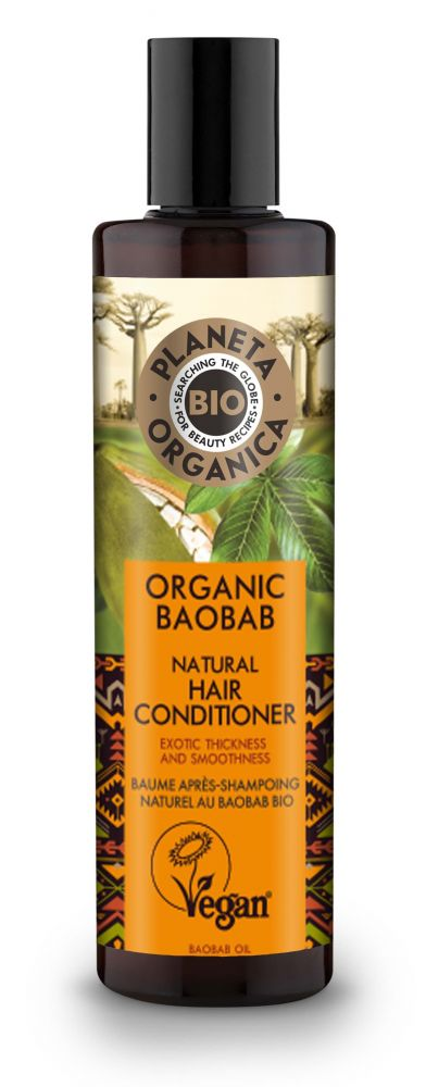 Prírodný kondicionér pre husté a hladké vlasy Baobab 280 ml