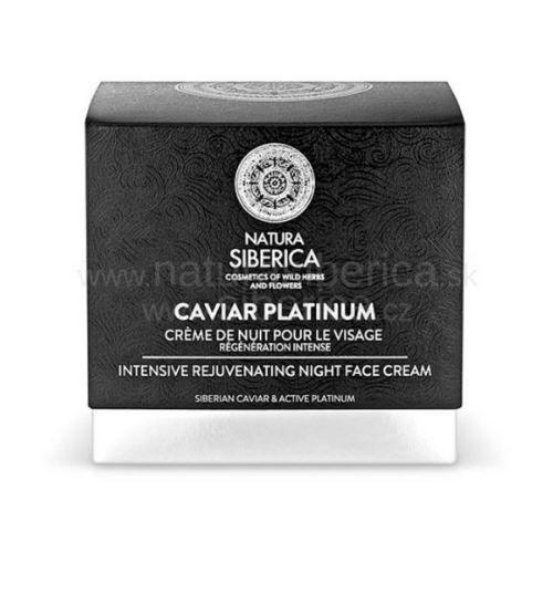 Nočný omladzujúci krém na tvár Caviar Platinum Natura Siberica 50ml