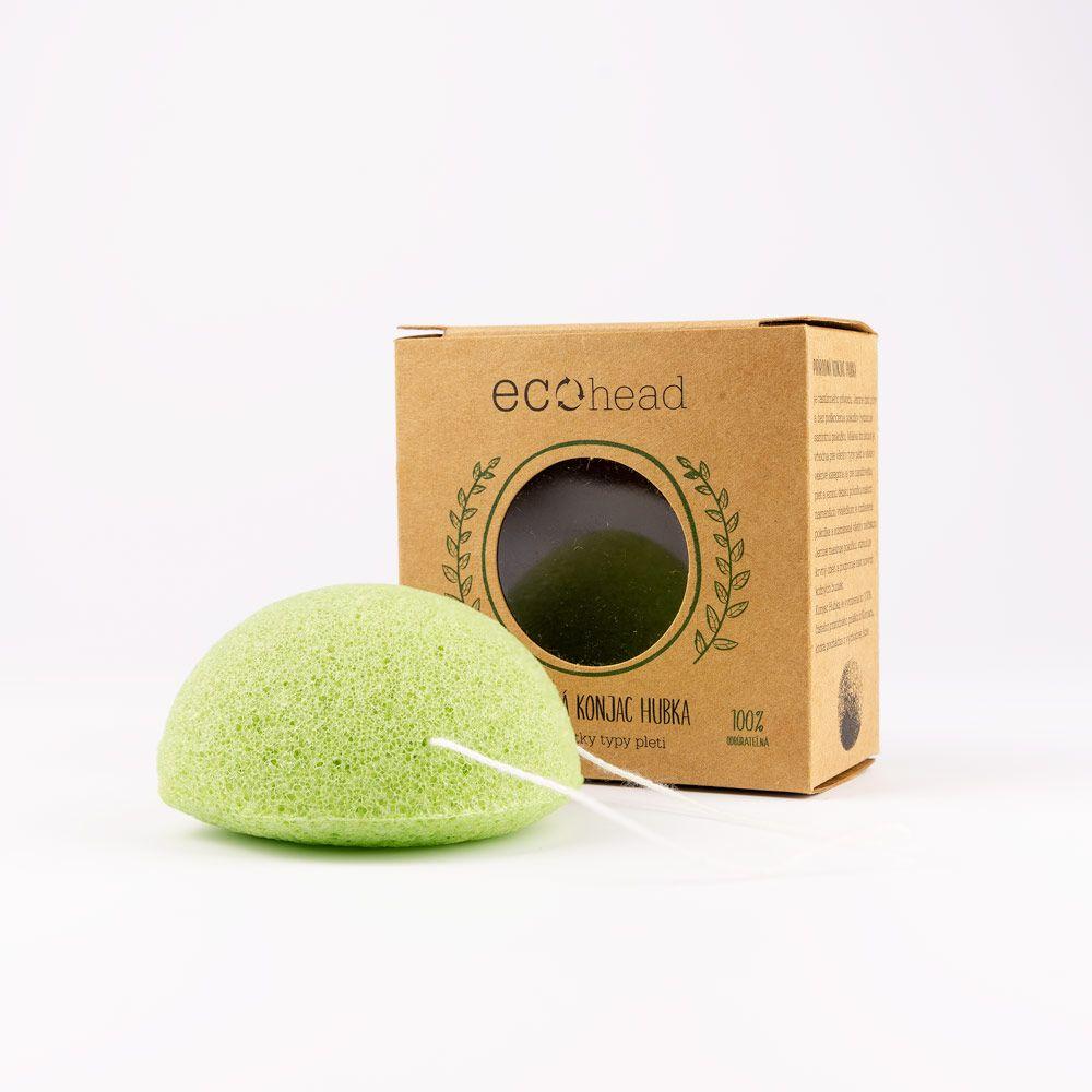 Prírodná Ecohead Konjac Hubka - zelená
