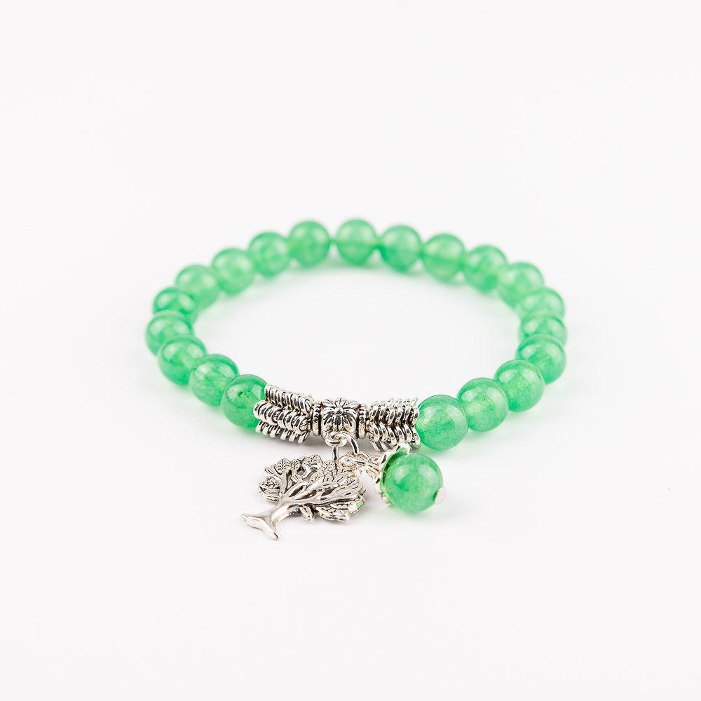 Náramok na ruku pre ženy Zelený strom Aventurín zelený