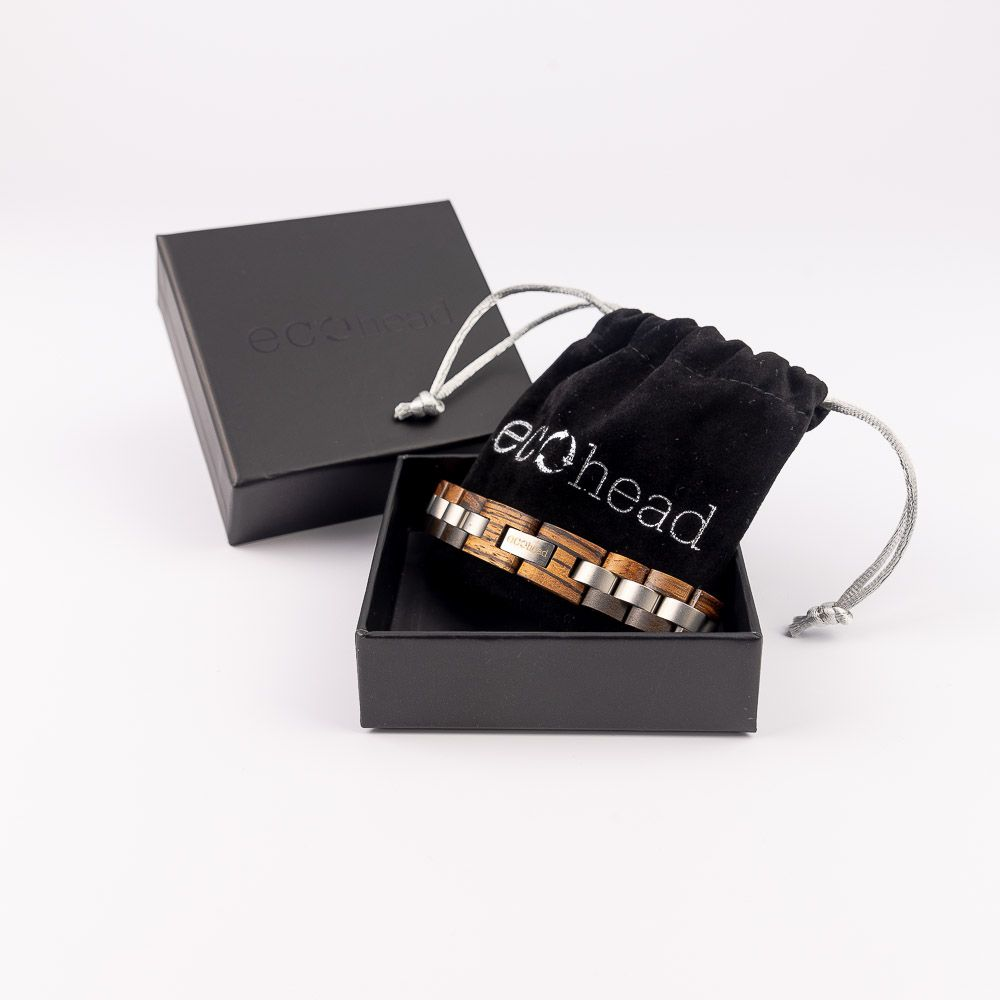 Drevený náramok na ruku edícia Santálová duša v darčekovej krabičke
