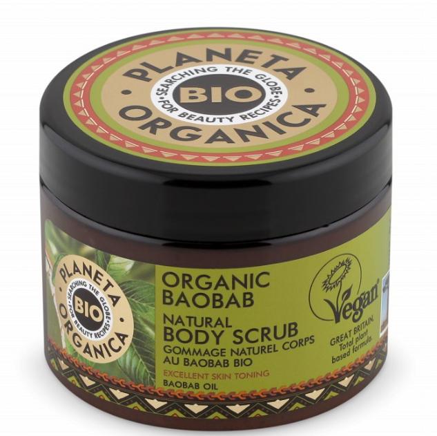 Vegánsky telový peeling s obsahom Baobabu 300 ml