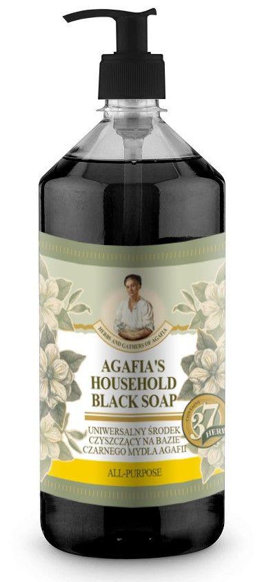Agafja viacúčelové čierne mydlo do domácnosti Natura Siberica 1000 ml