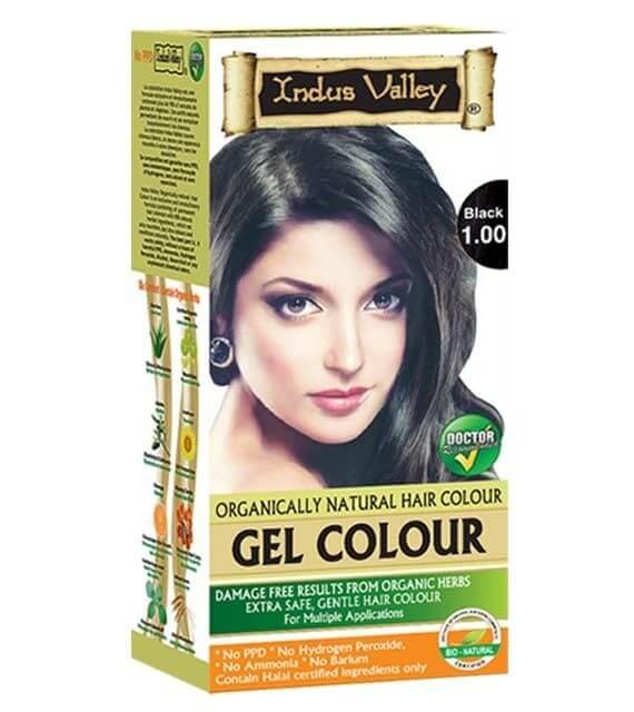 Gélová farba na vlasy Čierna Indus Valley