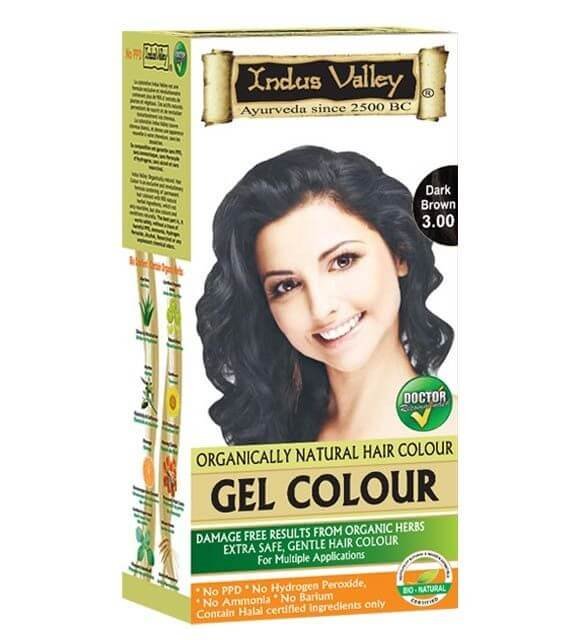 Gélová farba na vlasy Tmavohnedá Indus Valley