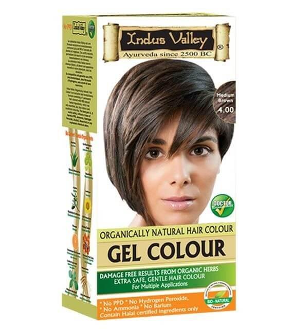 Gélová farba na vlasy Hnedá Indus Valley