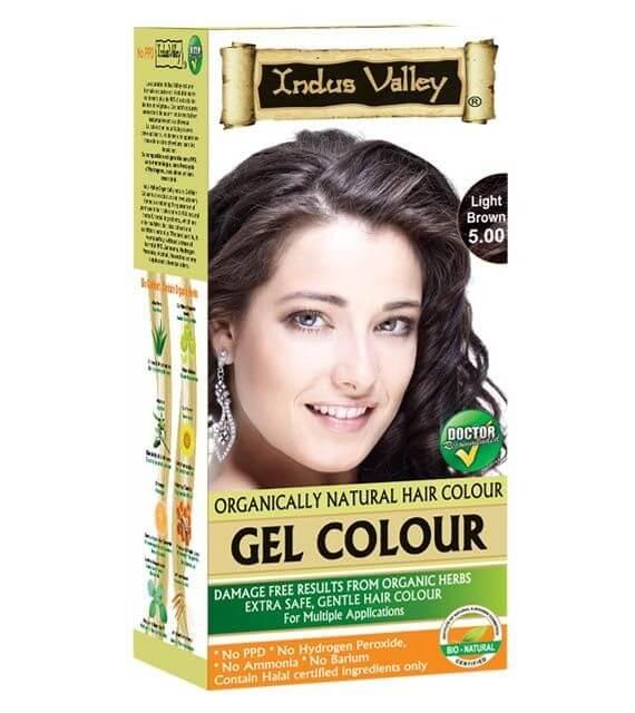 Gélová farba na vlasy Svetlohnedá Indus Valley
