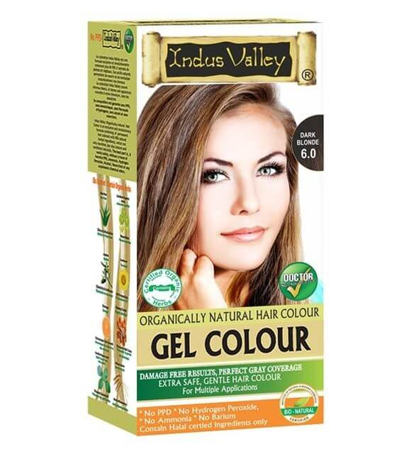 Gélová farba na vlasy Tmavá Blond Indus Valley