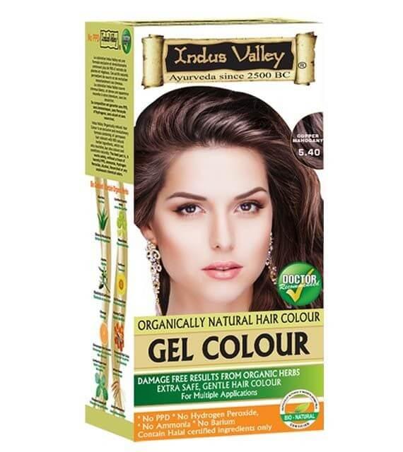 Gélová farba na vlasy Mahagónová Indus Valley