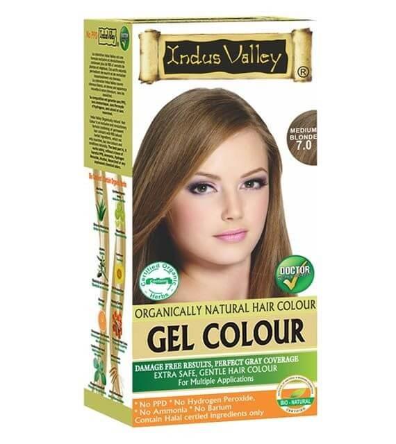 Gélová farba na vlasy Stredná Blond Indus Valley