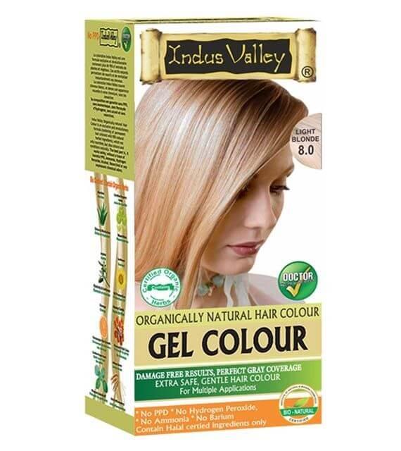 Gélová farba na vlasy Svetlá Blond Indus Valley