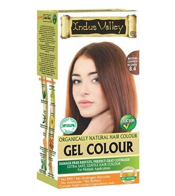 Gélová farba na vlasy Stredná Medená Blond Indus Valley