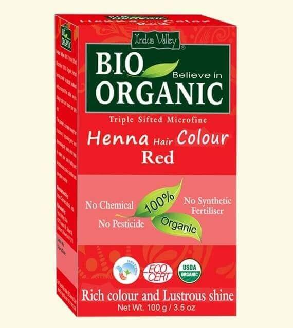 Henna farba na vlasy červená Indus Valley