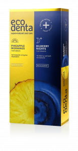 Sada zubných pást Pineapple Mornings & Blueberry Nights Ecodenta 100 ml + 100 ml